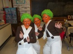 Anna, Sydney & Camryn are Oompa Loompas in the school musical