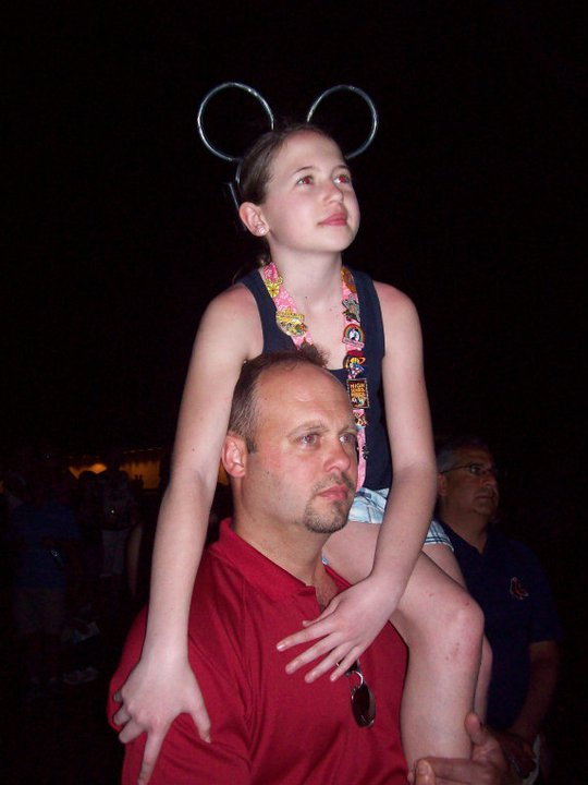 Fireworks at Disney with Dad