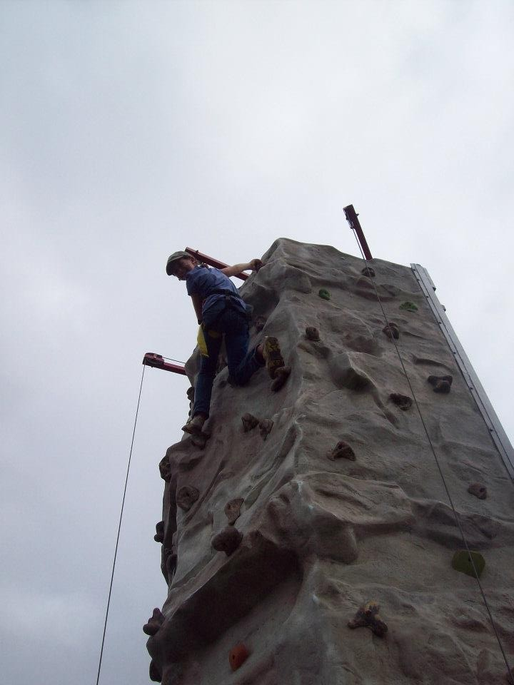 Top of the rock wall!