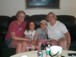 Anna & Lila with their Grandmas in Florida